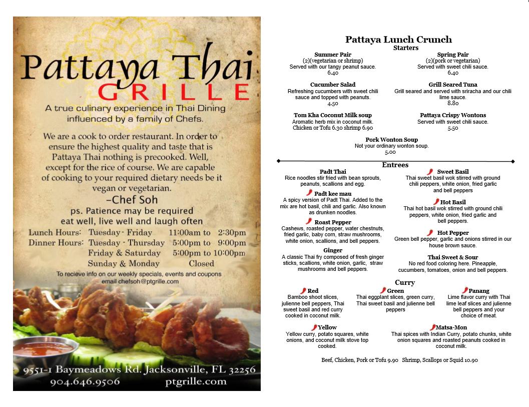 Pattaya Thai Restaurant Jacksonville